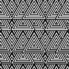 Black And White Triangle Pattern by artsandsoul