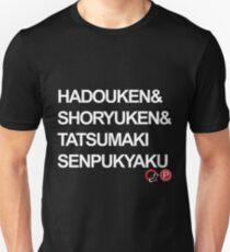 Camiseta ajustada Hadouken Shoryuken Tatsumaki Senpukyaku
