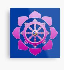 Dharma wheel Metal Print