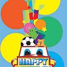 Boy's Birthday Card by Shannon Kennedy