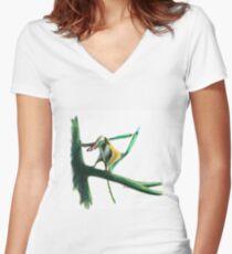 Little Darwin Women's Fitted V-Neck T-Shirt