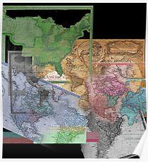 America Maps Poster