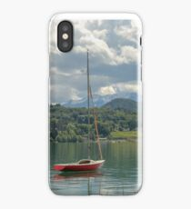 Boat on an Austrian Lake iPhone Case