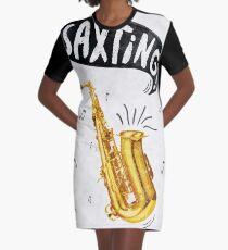 Saxting! Graphic T-Shirt Dress