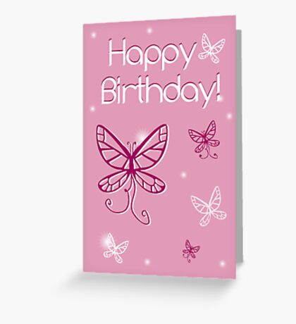 Girl's Birthday Butterfly Greeting Card