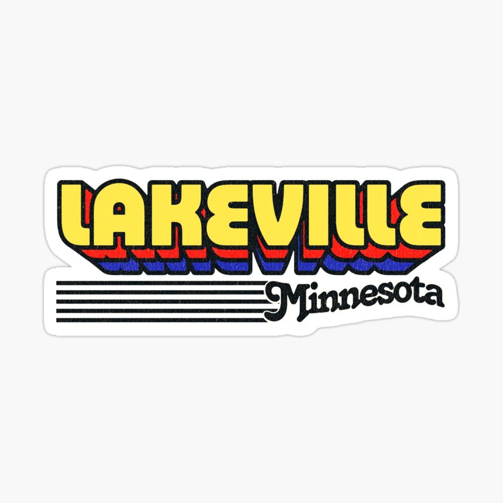 Lakeville, Minnesota | Retro Stripes Sticker