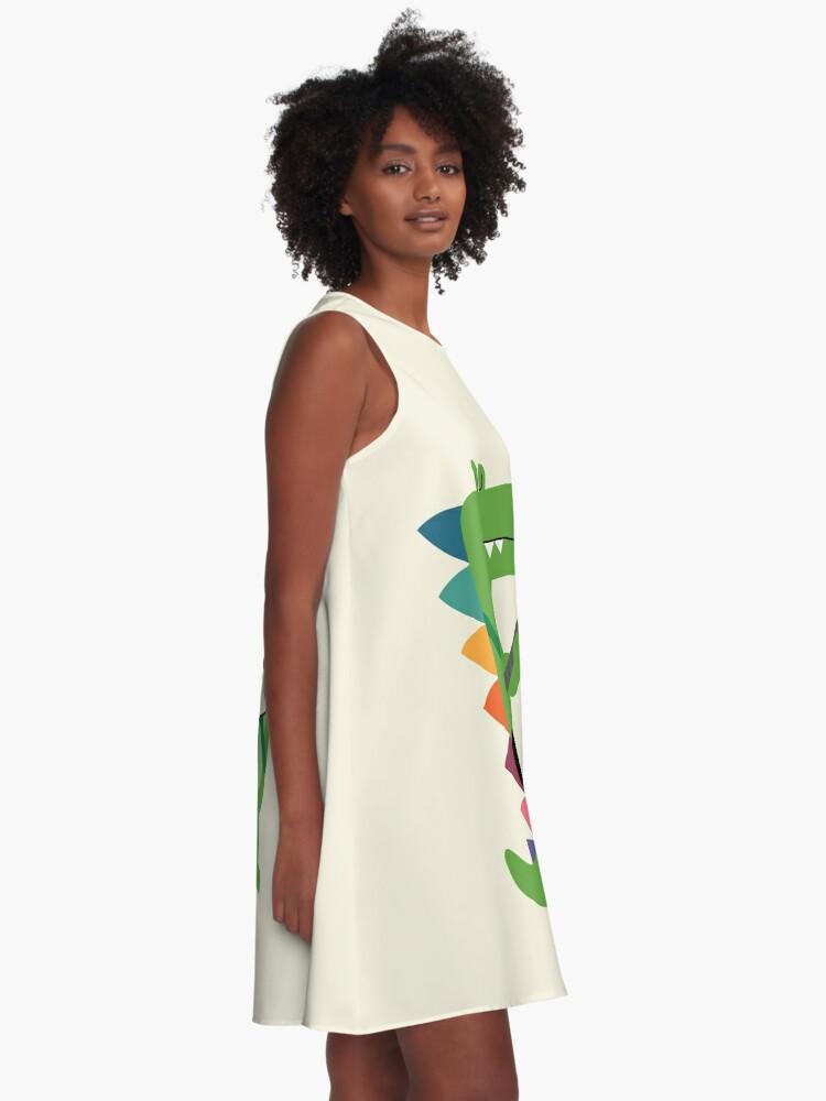 Alternate view of Croco Rock A-Line Dress