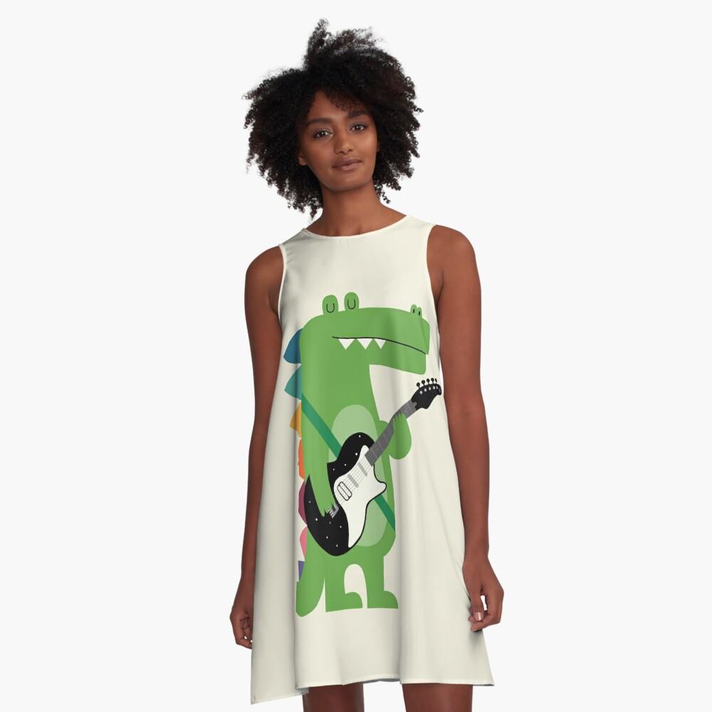 Croco Rock A-Line Dress