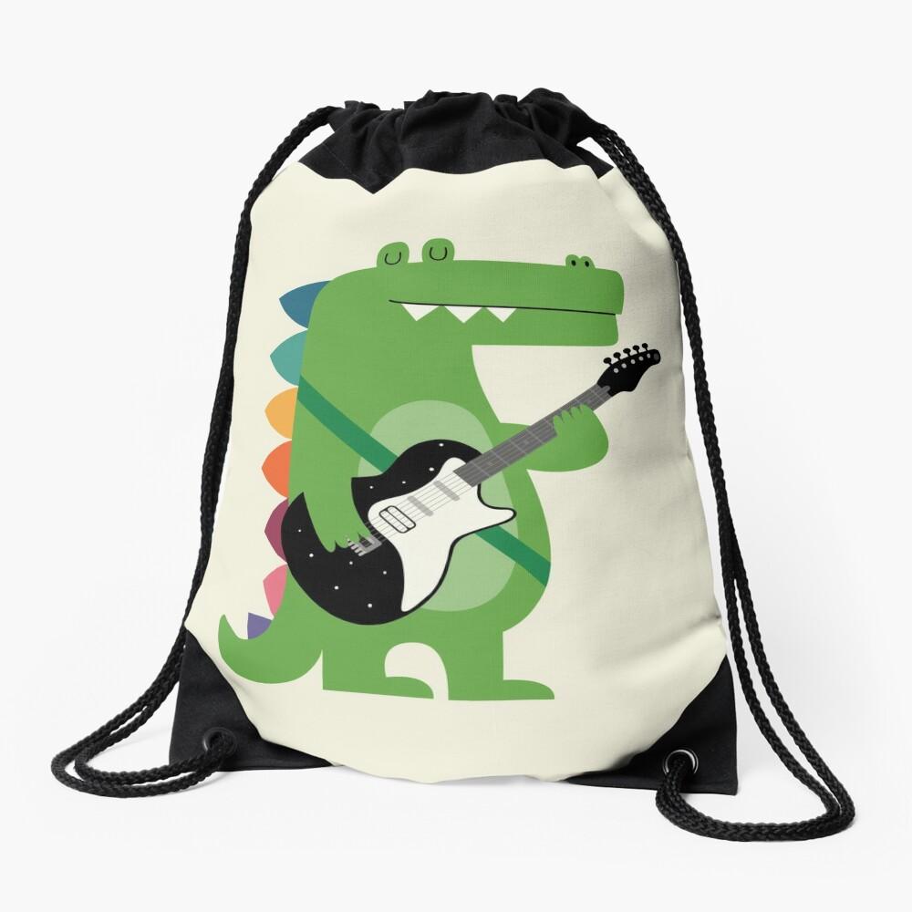 Croco Rock Drawstring Bag