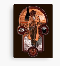 The Gunslinger's Creed. Canvas Print