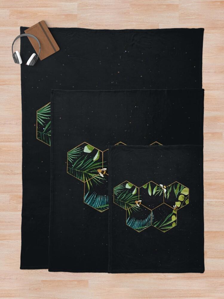 Alternate view of Bee Green Throw Blanket