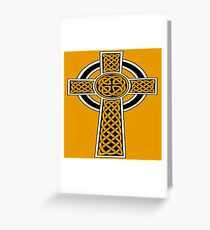 St Patrick's Day Celtic Cross Black and White Greeting Card