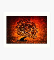 Psychedelic Tree of Life Art Print