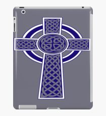 St Patrick's Day Celtic Cross Blue and White iPad Case/Skin