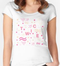 TWICE Typography Women's Fitted Scoop T-Shirt