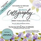 MODERN BRUSH CALLIGRAPHY WORKSHOP by Kamaljeet Kaur