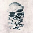 Glitch Skull Mono by Ali Gulec