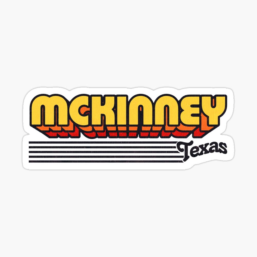 McKinney, Texas | Retro Stripes Sticker