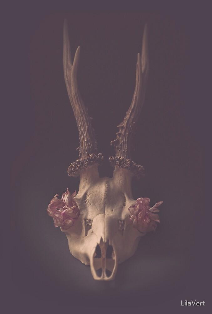 Crane deer Still life vintage by LilaVert