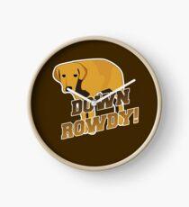 Down Rowdy the Dog Clock