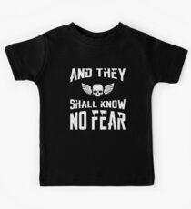 Und sie werden keine Angst 40k Marine Wargaming Tabletop Miniaturen Gamer wissen Kinder T-Shirt