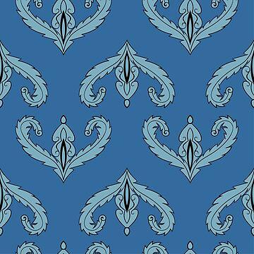 Blue baroque pattern by dana891125