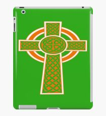 St Patrick's Day Celtic Cross Orange and White iPad Case/Skin