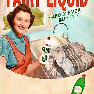 Vintage Dishwashing Liquid Advert - Circa 1950's by marlenewatson