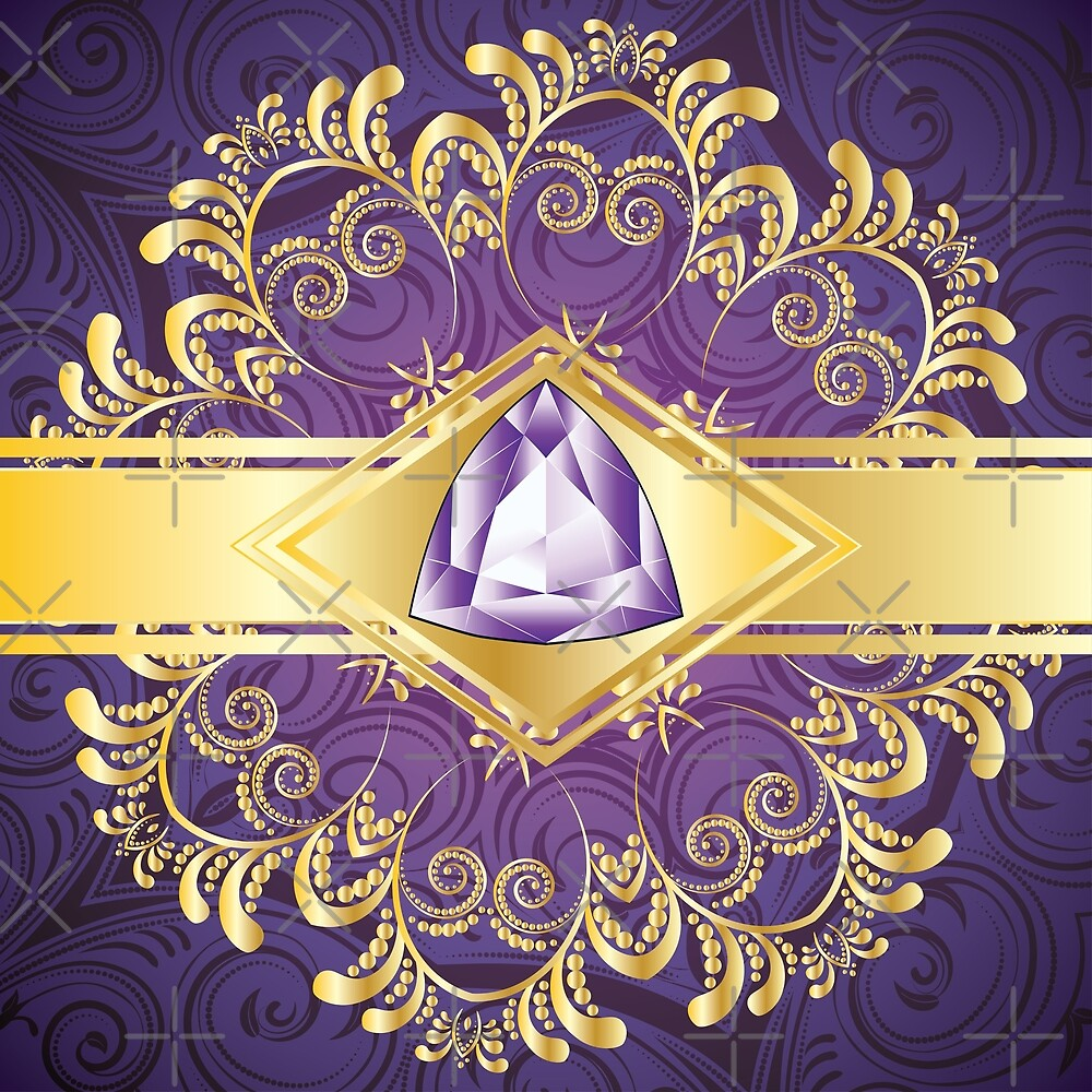 Decorative Background with Amethyst\