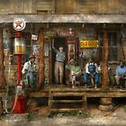 Gas Station - Sunday afternoon - 1939 by Michael Savad