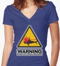 Haie mit Frikkin Laser Beams Shirt mit V-Ausschnitt