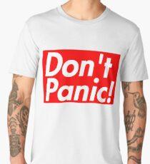 Don't Panic, Tesla, Rocket Launch, Space X, Falcon Heavy, Mars Men's Premium T-Shirt