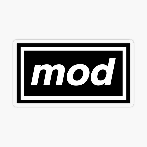 Mod - OASIS Band Tribute Transparent Sticker