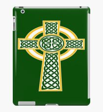 St Patrick's Day Celtic Cross White And Orange iPad Case/Skin