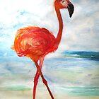 «Pink Flamingo Watercolor» de Manitarka