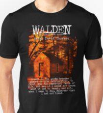 Walden by Henry David Thoreau Designs Slim Fit T-Shirt
