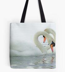 Swan Heart II Tote Bag