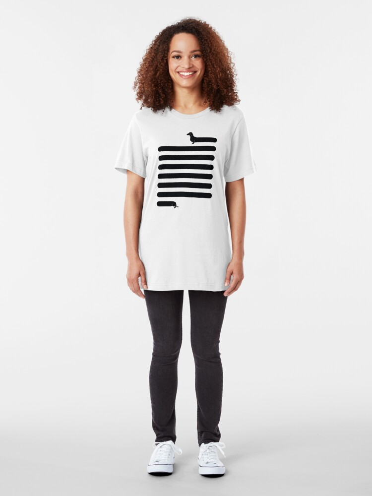 Alternate view of (Very) Long Dog Slim Fit T-Shirt