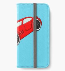 A Butch Red Muscle Car iPhone Wallet/Case/Skin