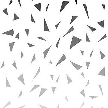 Black geometric pattern by cheeckymonkey