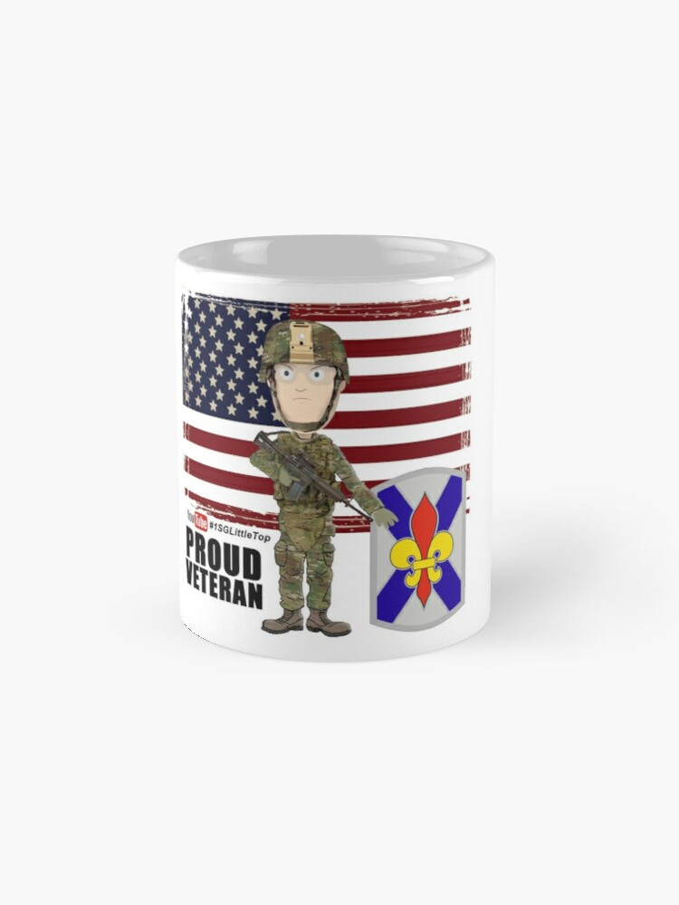 Alternate view of 256 Infantry- Proud Veteran Mug