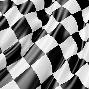Checkered Flag, Cloth, WIN, WINNER, Chequered Flag, Motor Sport, Racing Cars, Race, Finish line by TOMSREDBUBBLE