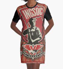 INGSOC 1984 Propaganda Poster Graphic T-Shirt Dress