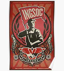 INGSOC 1984 Propaganda Poster Poster