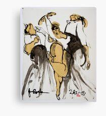 3 dancers Canvas Print