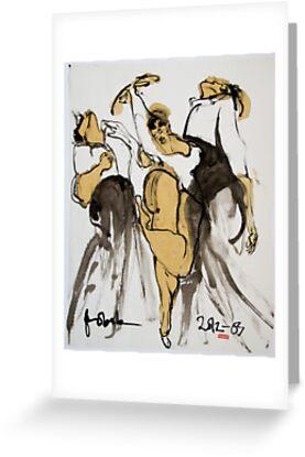 3 dancers by pobsb