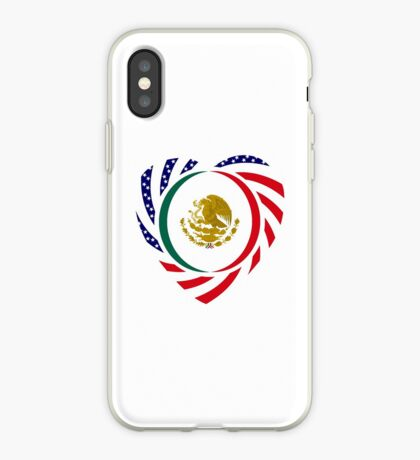 Mexican American Multinational Patriot Flag Series (Heart) iPhone Case