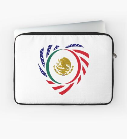 Mexican American Multinational Patriot Flag Series (Heart) Laptop Sleeve