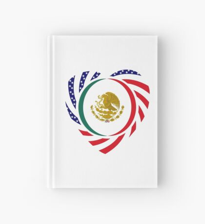 Mexican American Multinational Patriot Flag Series (Heart) Hardcover Journal
