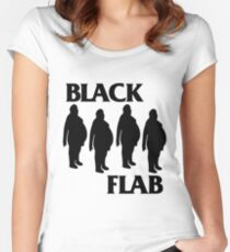 BLACK FLAB Women's Fitted Scoop T-Shirt